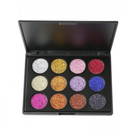 High Pigmented 12 Colors Glitter Powder Natural Eyeshadow Palette