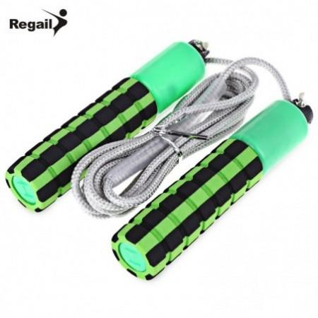 REGAIL 219 3M Cotton Jump Rope with Soft Sponge Handle Counter for Sports Match Examination