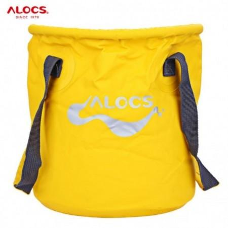 ALOCS AC - Z02 Outdoor Portable Folding Bucket Water Storage Holder for Fishing Camping - 11L