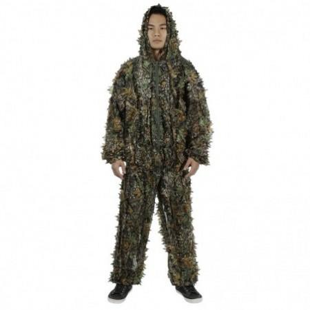 3D Leafy Camouflage Jungle Bionic Suit Set for Outdoor Hunting