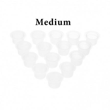 100pcs Small / Medium / Large Tattoo Ink Plastic Transparent Pigment Cups Caps
