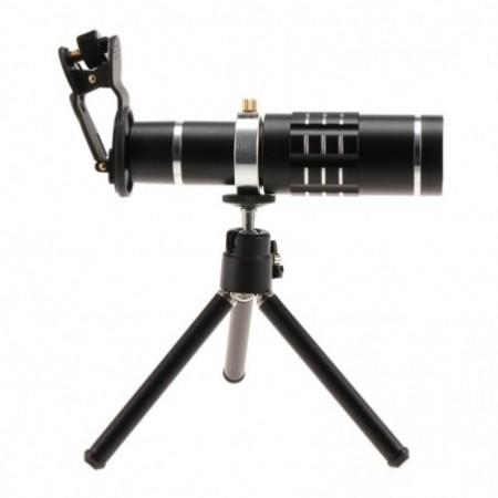 Obset OBM1805 18X Outdoor Telephoto Lens with Tripod for Mobile Phone