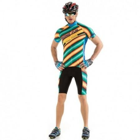 RIDING FUN Men Short-sleeved Stripe Cycling Suit