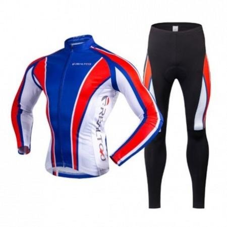 REALTOO Men Winter Fleece Thermal Long-sleeved Cycling Suit