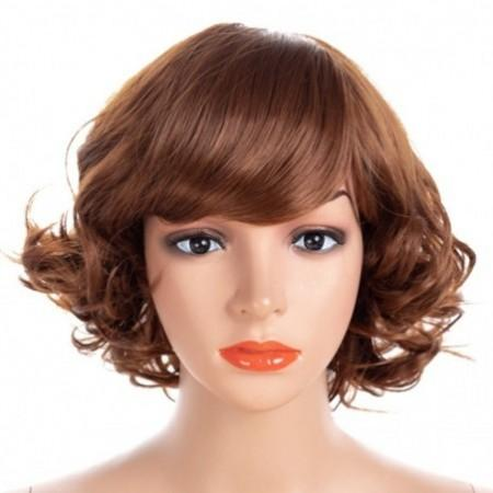 Partial Distribution Type Small Curl Short Wig