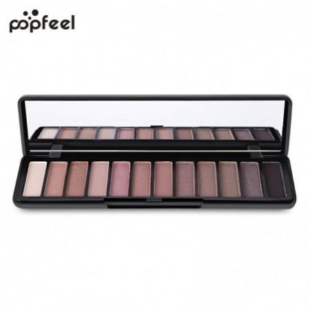 Popfeel Makeup Matte 12 Color Eye Shadow Palette with Mirror