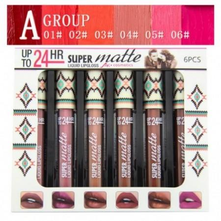 MK 6 Color/Set 24 Hours Waterproof Lip Gloss Matte Liquid Lipgloss