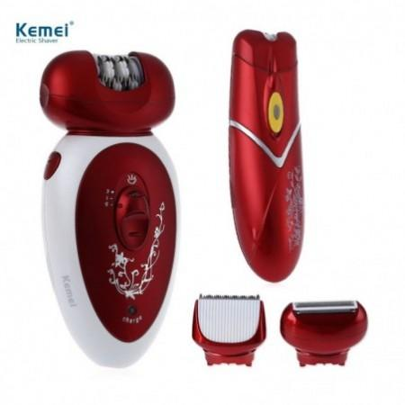 Kemei KM - 3048 Rechargeable Electric Epilator Hair Clipper Shaver Defeatherer for Women