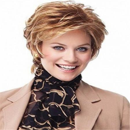 Women'S Short Curly Fluffy Facial Wig