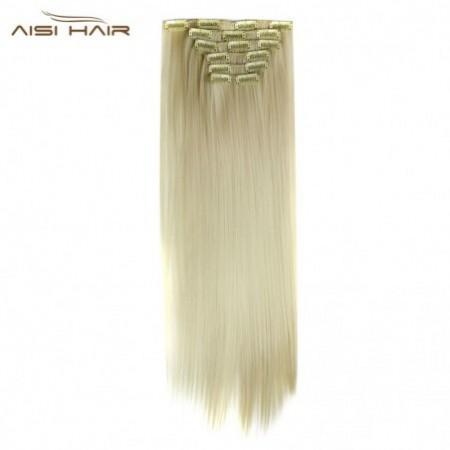 AISI HAIR 16 Clips Heat Resistant Straight Long Hair Extensions