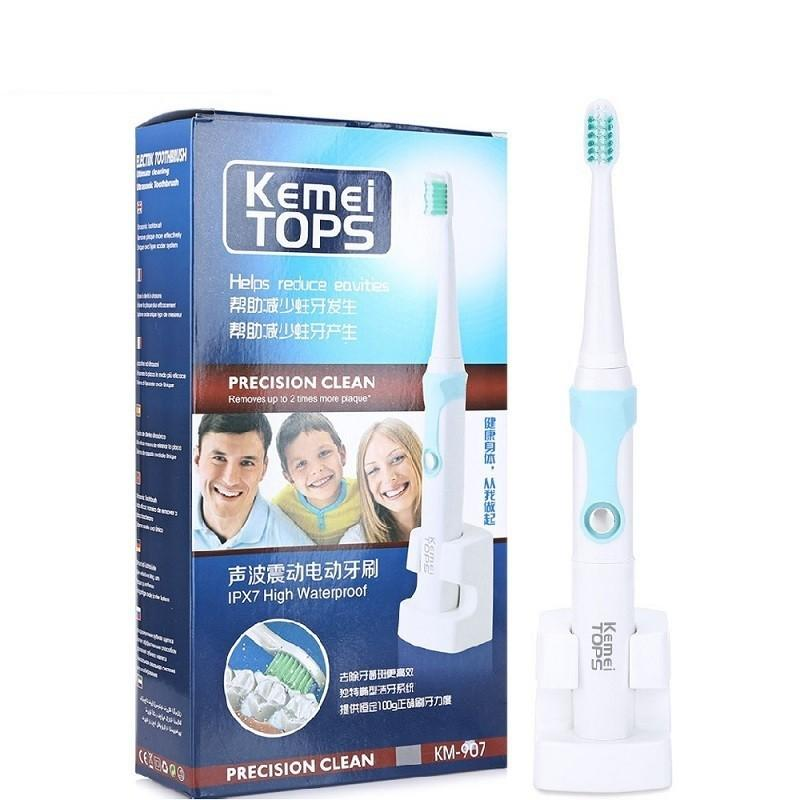 Kemei Min Ultrasonic Toothbrush eable Toothbrush with Oral Hygiene Dental Care