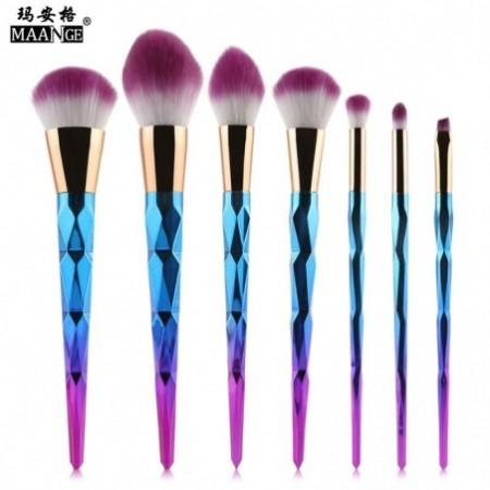 MAANGE 7pcs Professional Makeup Cosmetic Brushes Set Powder Foundation Eyeshadow Lip Brush Tools