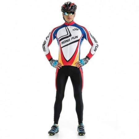 RIDING FUN Men Anti-UV Long Sleeve Riding Clothes Suit