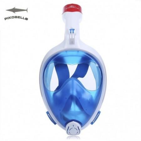 PIKOBELLO Foldable Top Dry Snorkel Full Face Mask