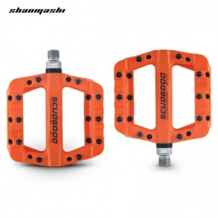 Shanmashi 1712C Nylon Carbon Fiber Mountain Bike Pedals