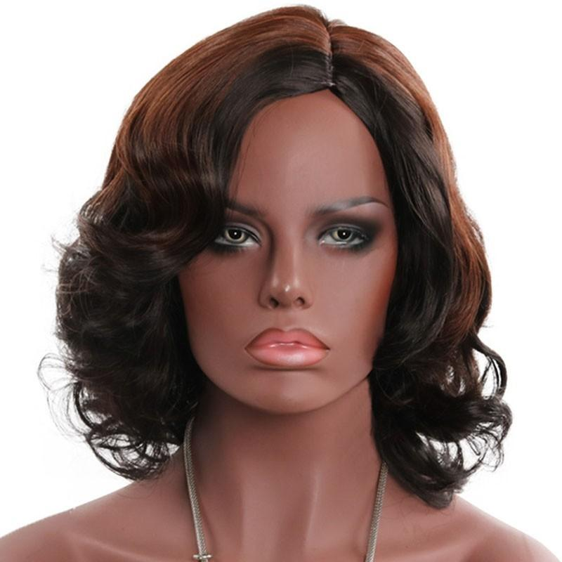 Partial Distribution Type Big Curl Medium Wig