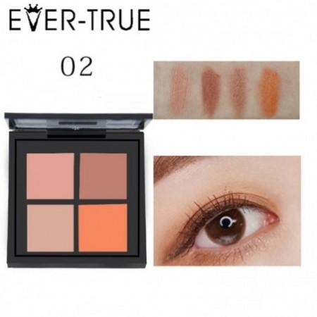 EVERTRUE 4 colors Eyeshadow Palette Matte Metallic Earth Color Nude Makeup