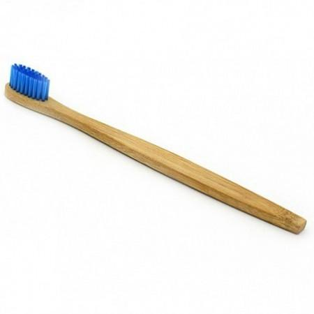 Nylon Fiber Brush Bamboo Handle Toothbrush