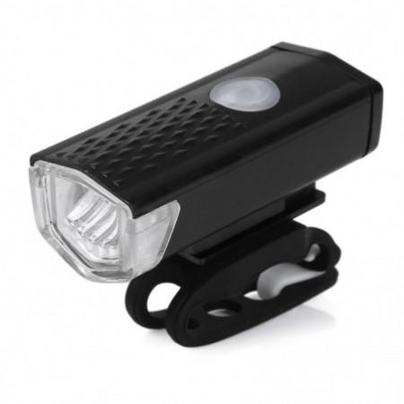 Water Resistant Rechargeable Mountain Bike Front Light with USB Changer for Night Cycling