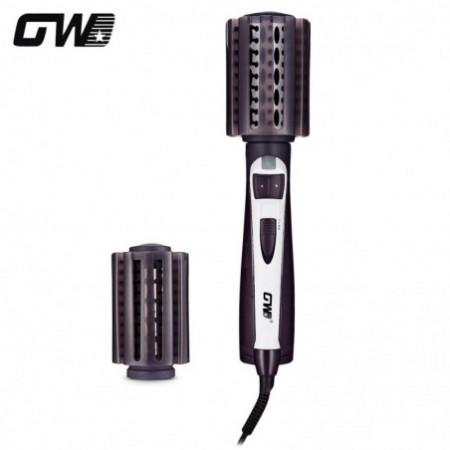 GW - 6508 Hair Styling Tool Dryer Curler Electric 2 in 1 Rotating Hot Brush