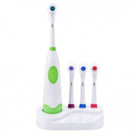 Revolving Electric Toothbrush with Replacement Brush Heads