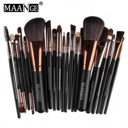 MAANGE 22pcs Foundation Blush Eye Shadow Makeup Brushes