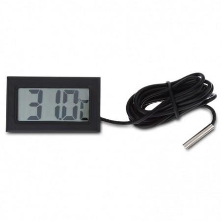 Digital Embedded Thermometer LCD Instant Read Refrigerator Aquarium Monitoring Display with Waterproof Detector