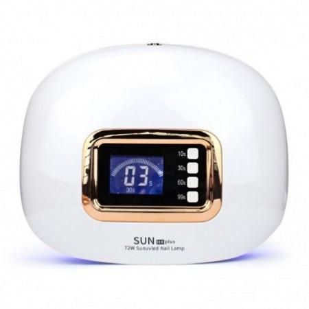 SUN H4plus Automatic UV LED Light 72W Portable Gel Nail Painless Mode Motion Detector Home Salon
