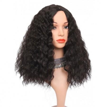 Long Center Parting Corn Hot Wavy Synthetic Wig