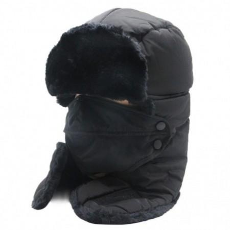 Winter Outdoors Unisex Windproof Ear Flap Trooper Hat Face Mask