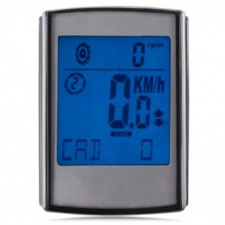 Large Screen Water Resistant Wireless LCD Backlight 2 in 1 Bicycle Computer Odometer Speedometer