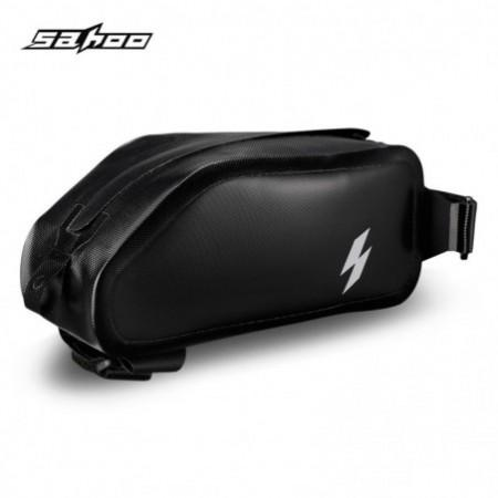 SAHOO 122009 Full Water-resistant Front Frame Top Tube Cycling Bicycle Bag Phone Holder