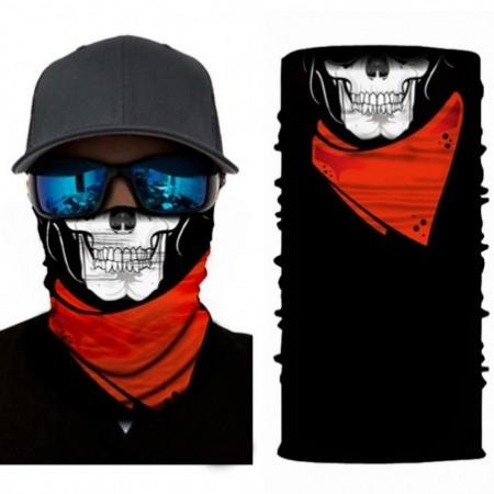 Multifunctional Skull Pattern Face Mask Cycling Headscarf