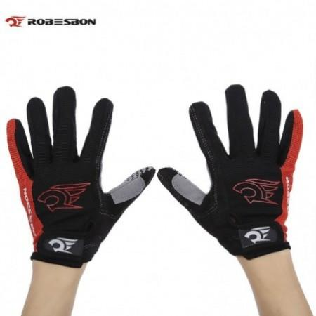 Robesbon Paired Unisex Sport Motocross Cycling Full Finger Gloves