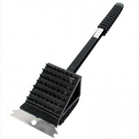 3 in 1 Long Handle Stainless Steel Barbecue Oven Cleaning Brush