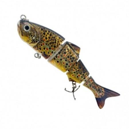 Hard Fishing Artificial Bait 4 Section Multi-jointed Fishing Lure