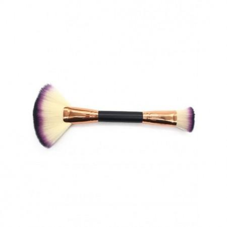 Two in One Double Headed Fan Shape and Foundation Brush