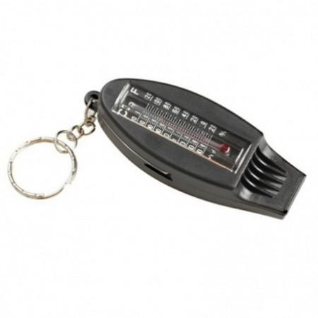 New 4-IN-1 Multifunction Thermometer Compass Whistle