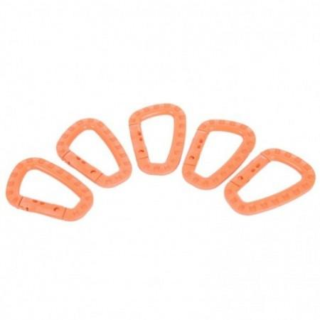 5pcs Plastic Carabiner D-ring Snap Lock Key Chain Clip Hook for Outdoor Camping Travel Hiking