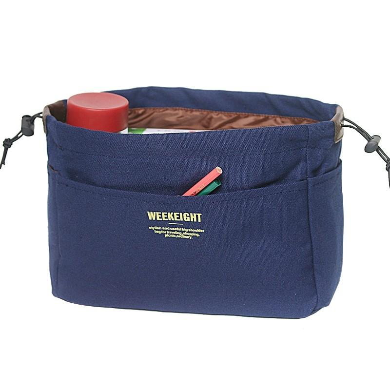 Cotton Canvas Cosmetic Storage Bag