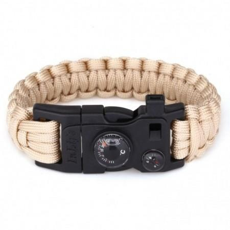 Outdoor Multifunction Fashionable Survival Bracelet with Nylon Rope