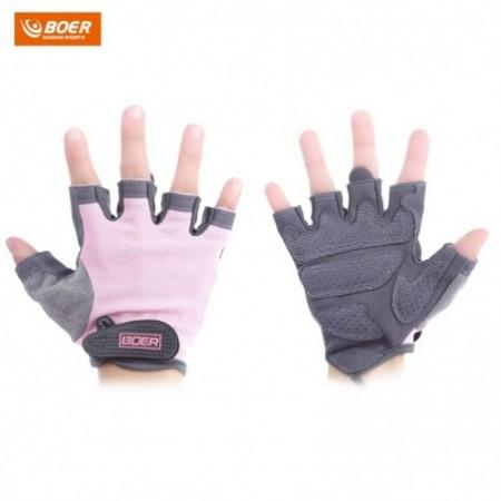 BOER Paired Fitness Sport Gym Exercise Weightlifting Women Half Finger Gloves