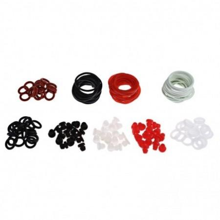 Tattoo Accessories Kit O-rings Rubber Bands Pin Cushions Supplies with Small Storage Box