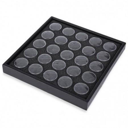 Clear Plastic Jewelry Beads Contact Lenses Storage Box Case Nail Tool