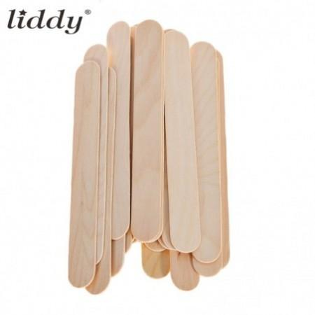 LIDDY 20pcs Disposable Wood Tongue Depressor Waxing Stick