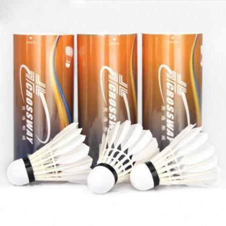 3pcs Champion Super Grade White Goose Feather Victor Badminton Shuttlecock Ball