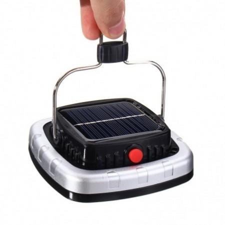 New Portable 3W 300LM COB LED Solar Lantern USB Rechargeable Camping Tent Light Emergency Lamp