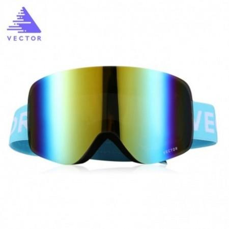 vector Outdoor Ski Goggles Double-layer Lens TPU Frame Anti-fog Glasses