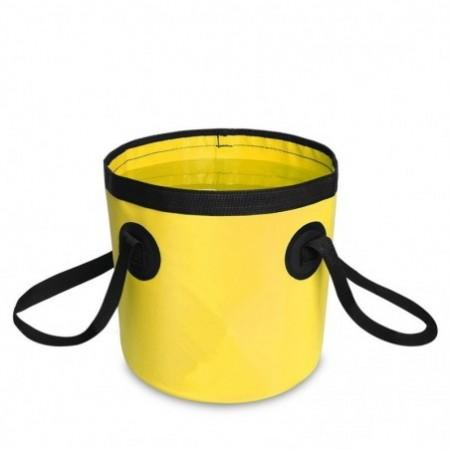 Portable Folding Water Container Lightweight Durable Includes Handy Tool Mesh Pocket