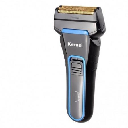 Kemei 2Blades Portable Dual Foil Shaver Rechargeable Beard Razor Wet and Dry Use